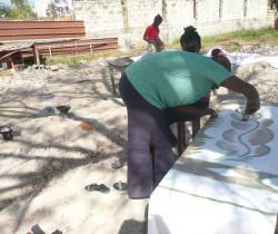 Batik au centre ste Cécile à Ziguinchor